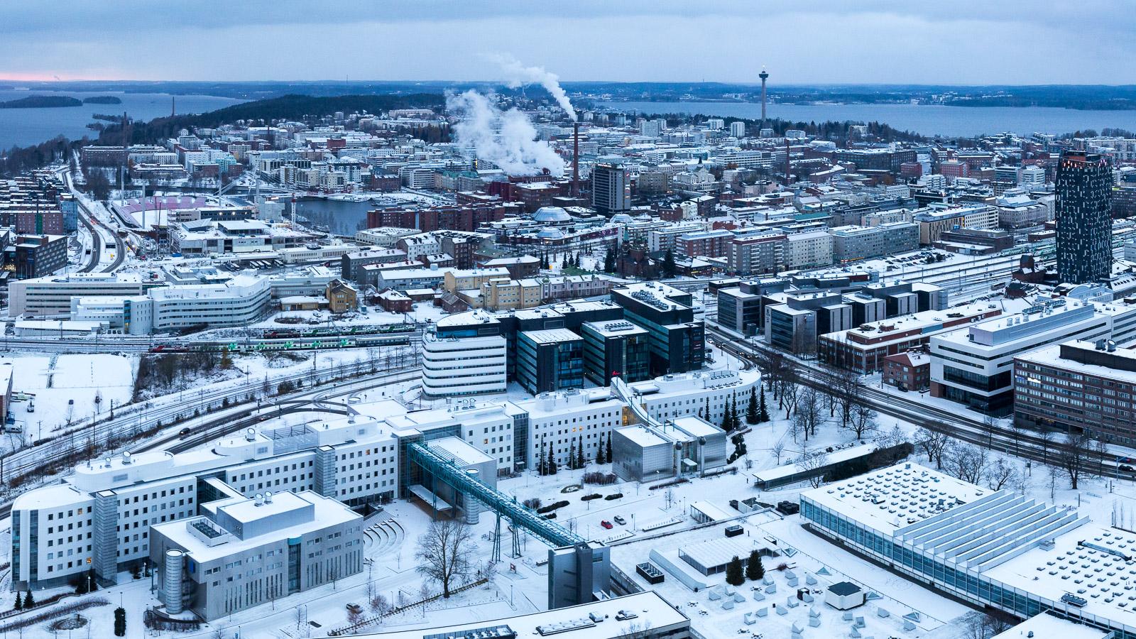 Tampere ilmakuva Ilves Torni