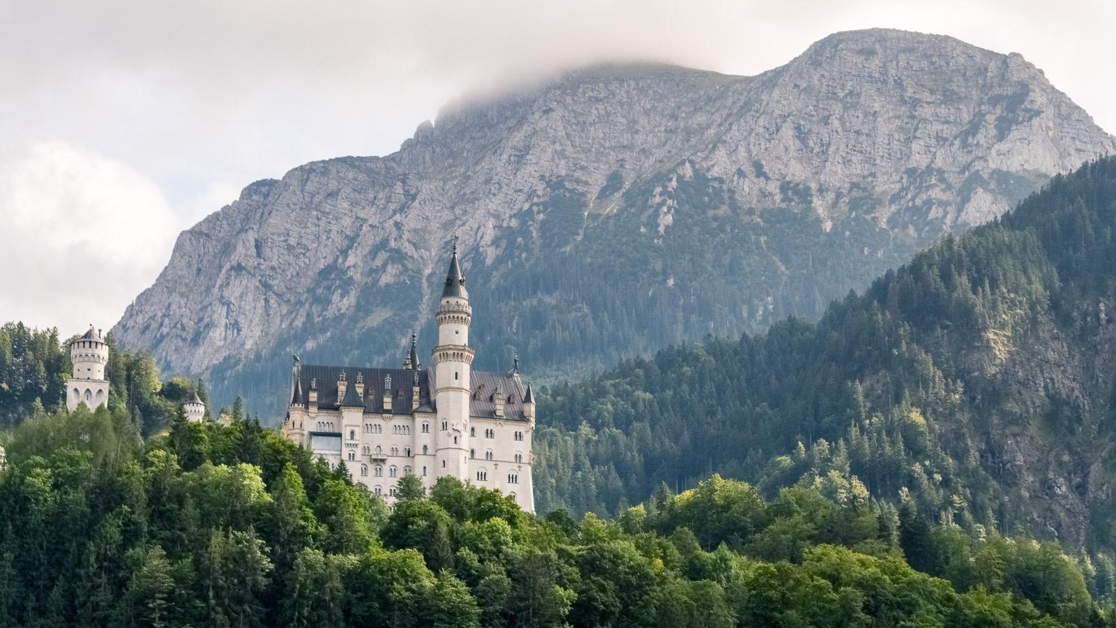 aerial view neuschwanstein castle germany